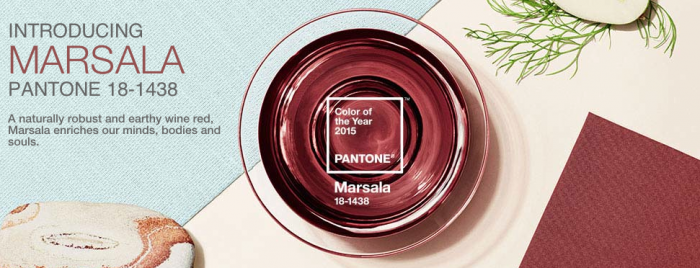 Hello Marsala!  Pantone's Color of the Year for 2015