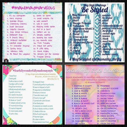 May Instagram Style Challenges www.asksuzannebell.com