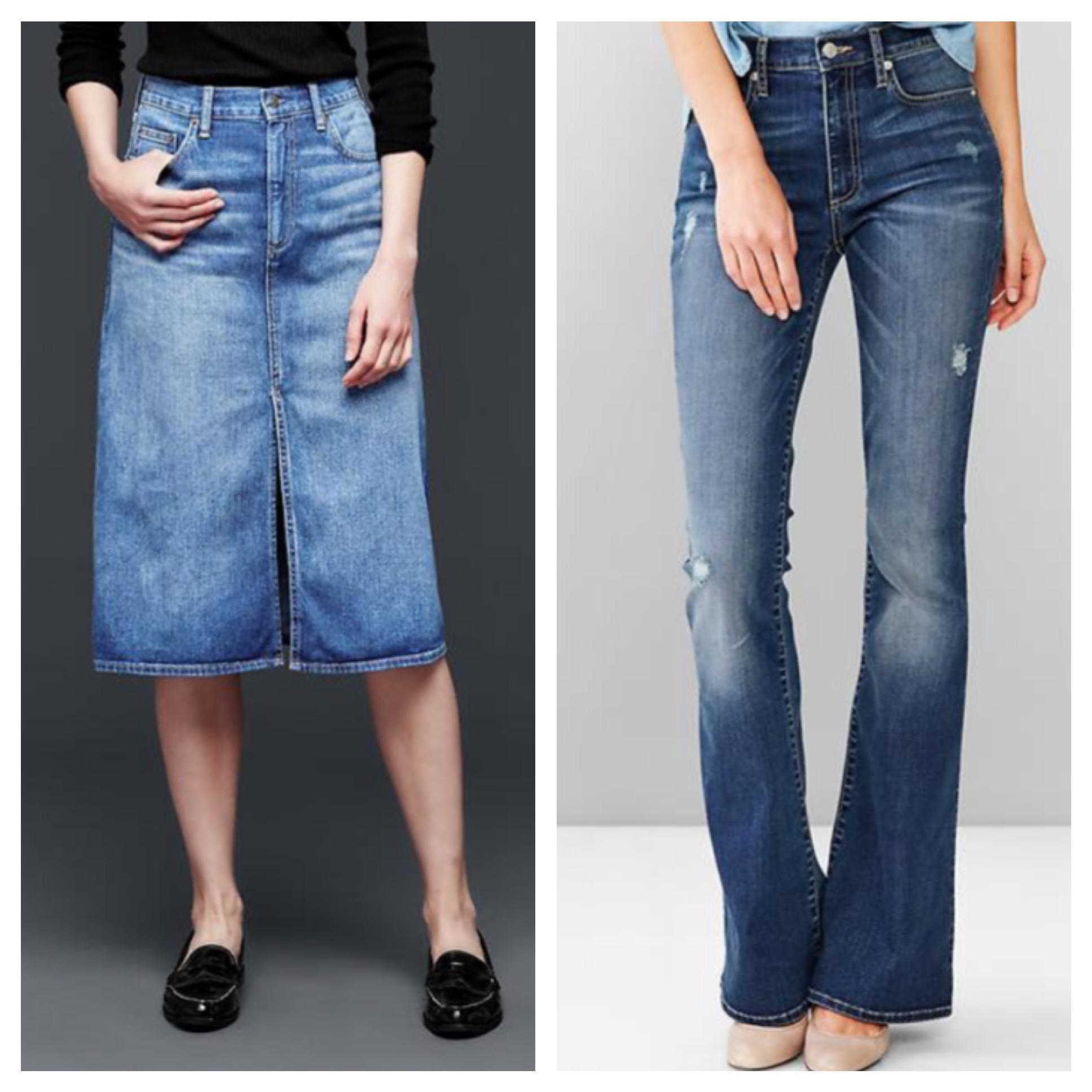 Gap Jean Skirt - Skirts