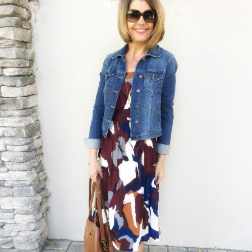 LOFT dress and Dolce Vita Lyndon sandals on asksuzannebell.com