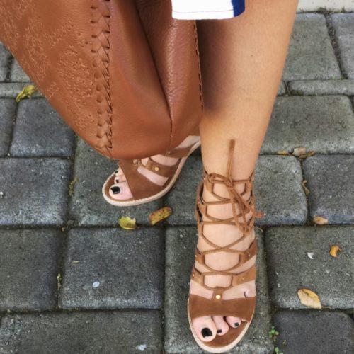 Dolce Vita lace up Sandal on AskSuzanneBell