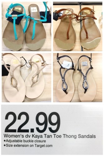 DV sandals at Target, Look for Less on the blog
