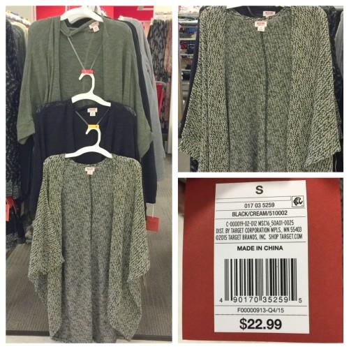 Target Buy, Cocoon Cardigan
