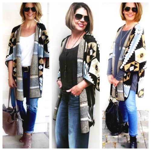 Jacquard Cardigan 3 ways