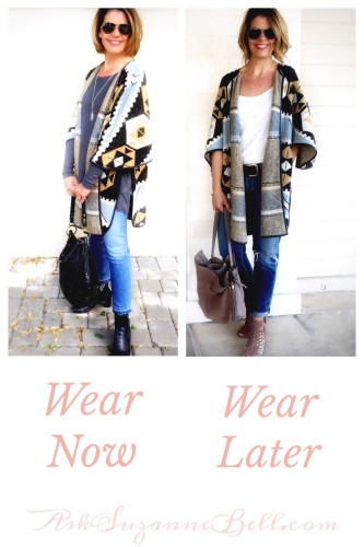 Spring Transition looks; wear now wear later on AskSuzanneBell.com