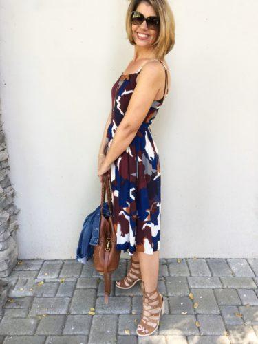 LOFT dress and DV lace up sandals