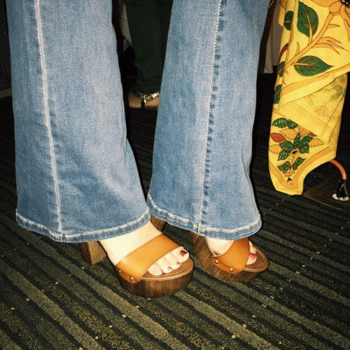 mossimo wood heel platform sandal