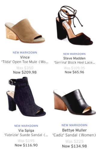 mules on sale at Nordstrom   Memorial Day Sale Picks