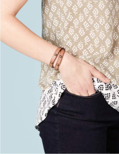 Boden Leather wrap bracelet