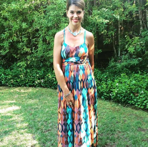 how to shorten your maxi dress - with hair ties