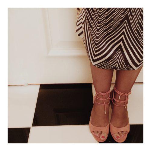 DVF Lace up Sandal