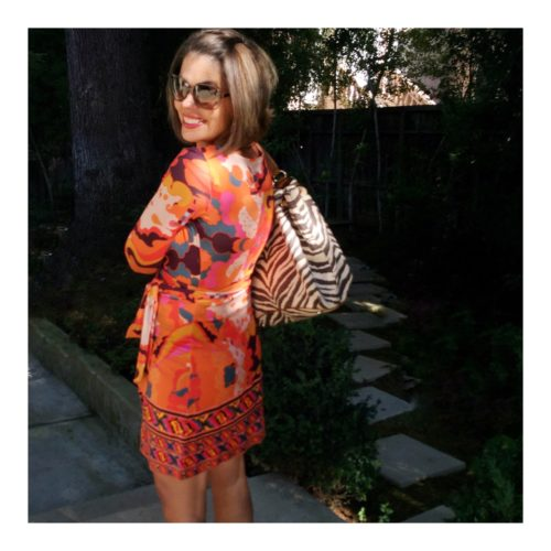 What I Wore: Color Me Bright in DVF