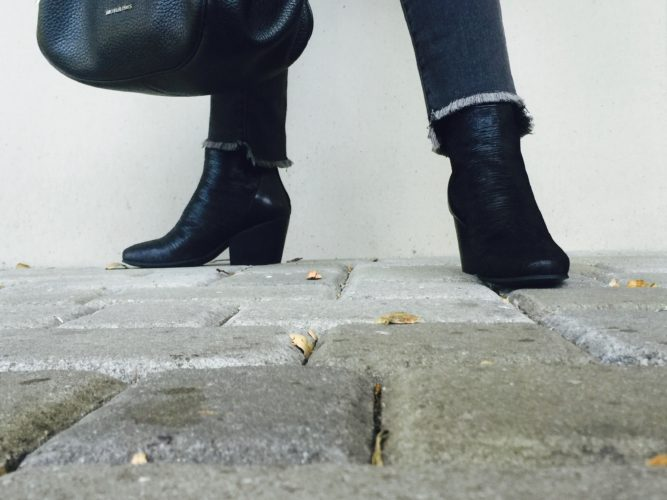 Pilcro straight leg jeans and Marni Booties