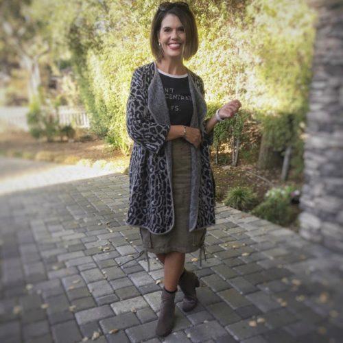 Fall Style: Joie Berit Animal Print Cardigan