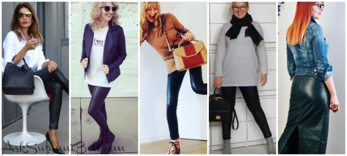 10 Real Women Around the Globe Rock Their Leather Bottoms | Outfit Ideas + New Sale Picks