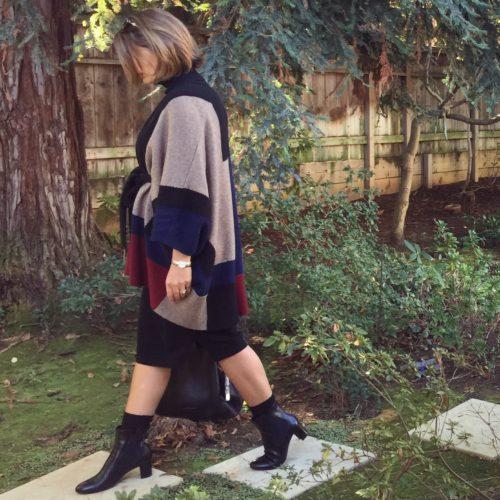 Wardrobe Staple: Autumn Cashmere Turtleneck Sweater Dress