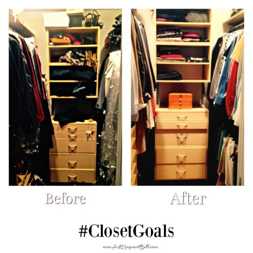 Closet Goals- Before and After