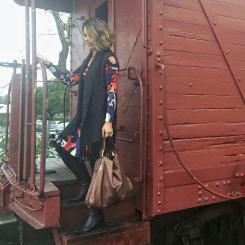 Shopping My Closet! Wardrobe Remix: DVF Sweater Dress with a Boho Twist