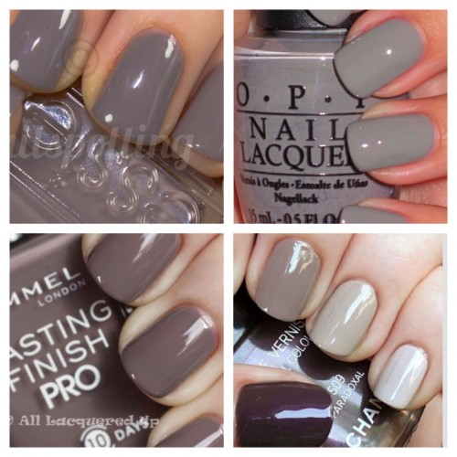 gray nails for fall