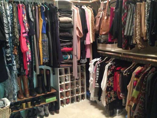 My new closet! Everything has been touched and inspected. I am ready for a new season!