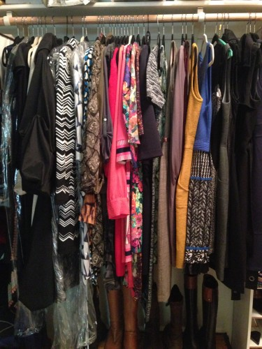 I love dresses! From left to right are special occasion dresses, long sleeve dresses by color, sleeveless dresses by color