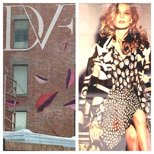 DVF outside the Chelsea Market
