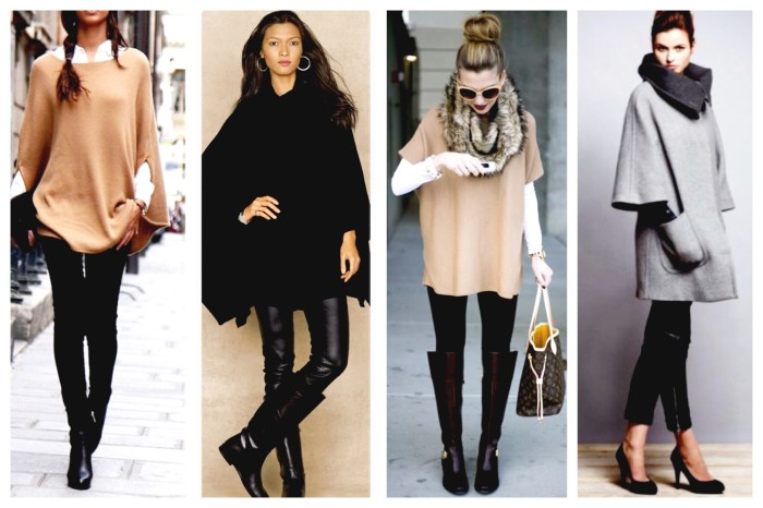 Classic Poncho Looks via Pinterest