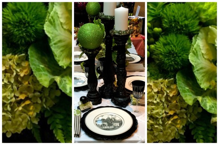 Black, White and Green Table