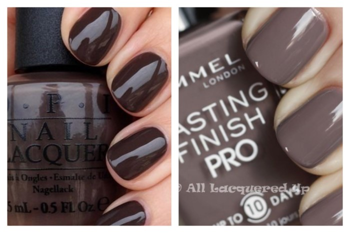 Left: OPI How Great is Your Dane Right: Rimmel Steel