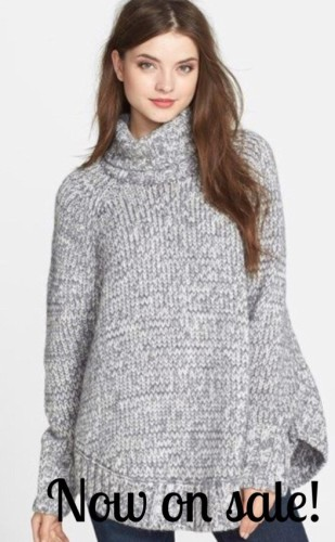 Easy to wear poncho by Michael Kors in 2 color ways. Now on sale at Nordstrom $  HERE
