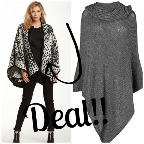 Left: This animal print poncho is a steal! I couldn't believe the price when I saw it! HERE Right: Clean and simple. I think this makes an elegant statement HERE