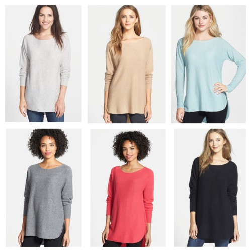 High Low Cashmere sweater, nordstrom