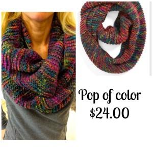 Brass Plum infinity scarf