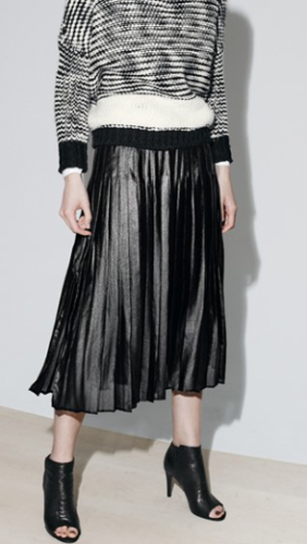 Trouve pleat skirt