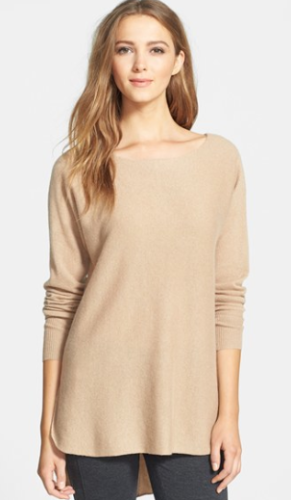 shirt tail cashmere sweater