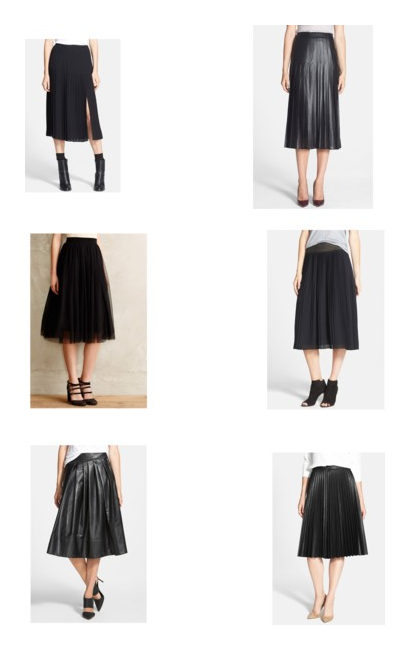 Full pleated skirts. For the full Polyvore set and links click HERE
