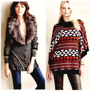 Sale sweater and poncho