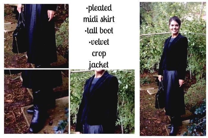 Velvet crop jacket Ann Taylor HERE