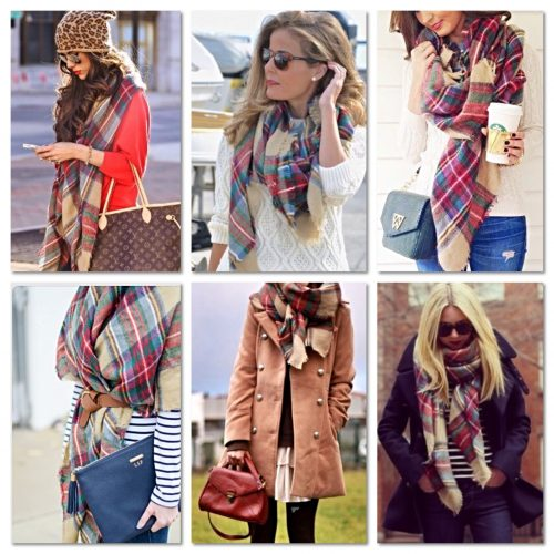 The Plaid Blanket Scarf; Hot Pick With Fashion Bloggers
