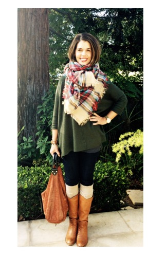 Plaid Blanket Scarf via www.asksuzannebell