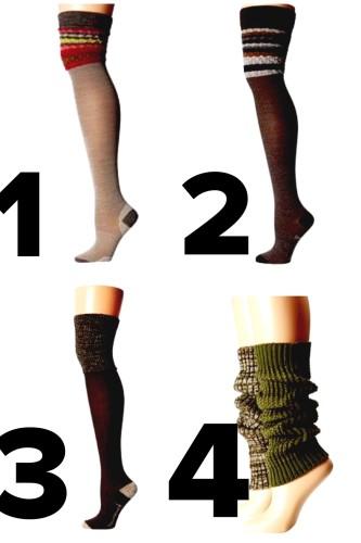 knee socks via zappos