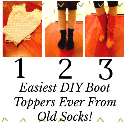 DIY boot toppers on www.asksuzannebell.com | from old sock or sweaters