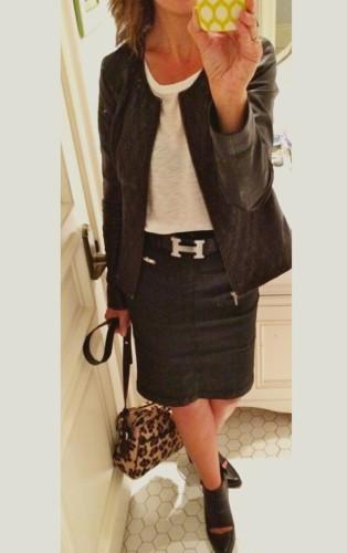 denim skirt via asksuzannebell.com