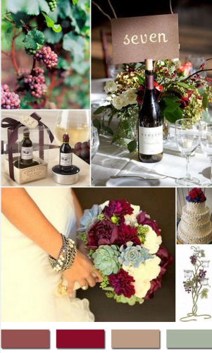 Marsala via wedding invites