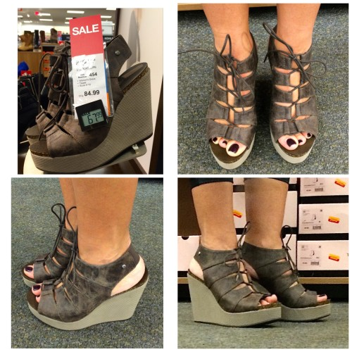 lace up wedge via kohl's