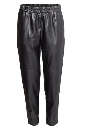 h and M faux leather pant
