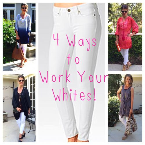 One Jean 4 Ways: White Denim and Tunics
