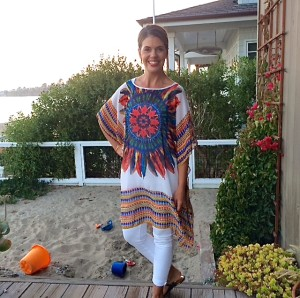 caftan and white pants on AskSuzanneBell