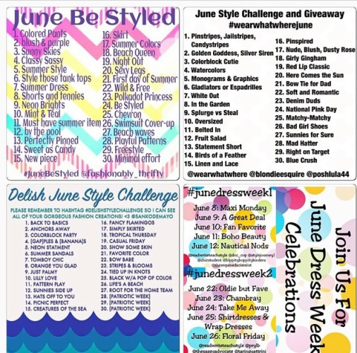 June Style Challenges on Instagram