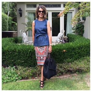 Carmen Marc Valvo scuba skirt | AskSuzanneBell Style Post